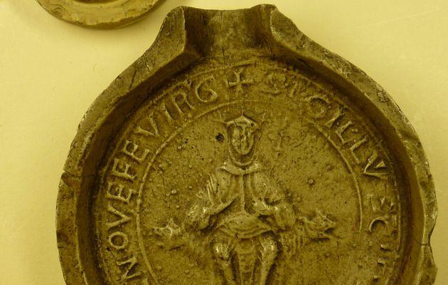Le grand sceau de l'abbaye de Sainte-Geneviève une image très parlante !