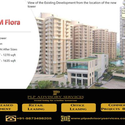9873498205-M3M Flora 68 Gurgaon- Pay 5% now rest on Possession