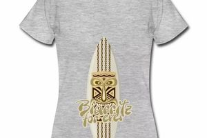 T Shirt Aquitaine blanc femme Biarritz For ever surf 64