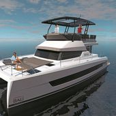 Bali Catamarans launches Catspace Motoryacht, a 40-feet power catamaran with large front cabins - Yachting Art Magazine