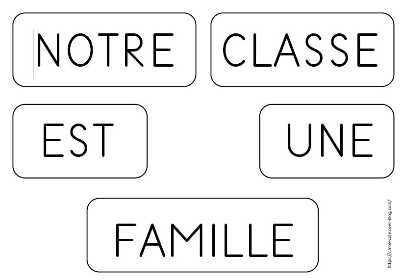 """Fiches d'activités album """"Notre classe est une famille"""""""