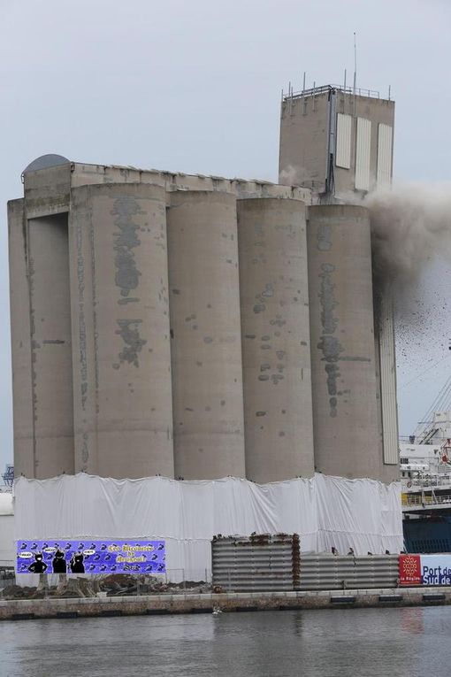 27 mars 2013 destruction silo à grains sète