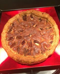 Almond tart with plums