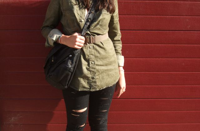 Military jeans