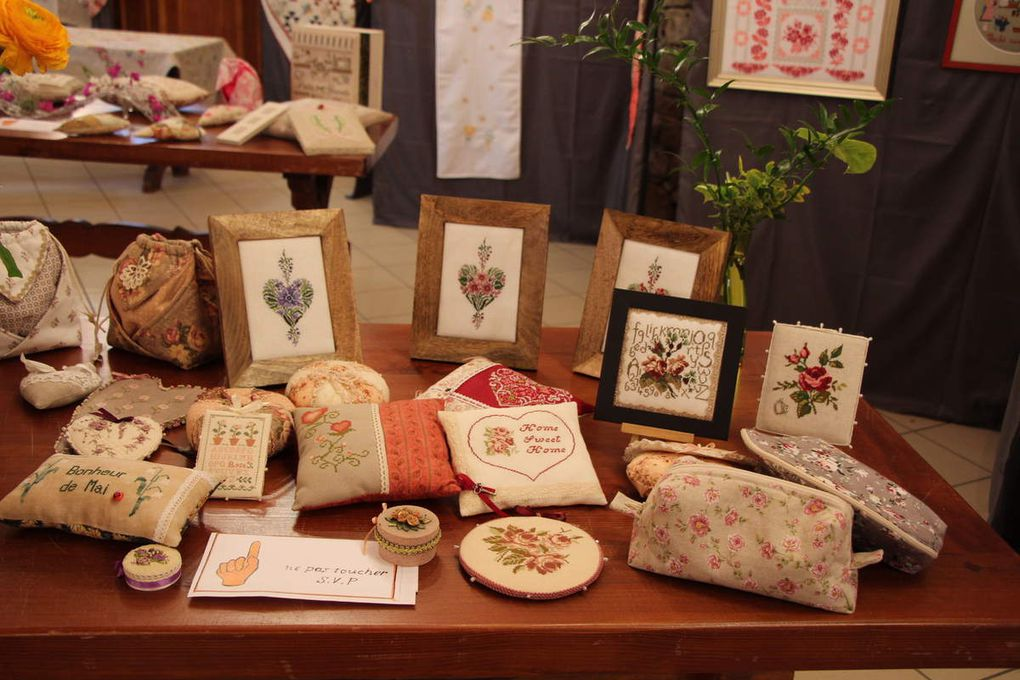 Expo de broderies et d'art floral à Geudertheim