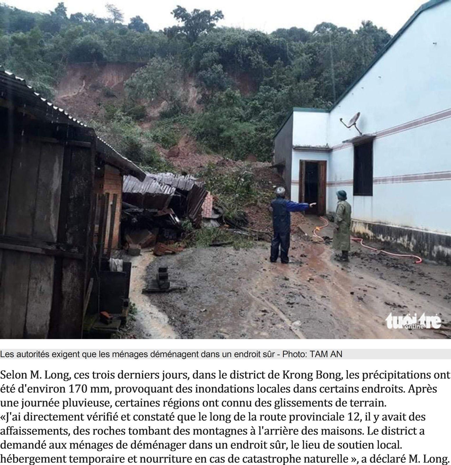Infos sur la solidarité avec le Viêt Nam et retour sur les inondations de cet automne