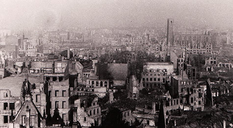1945 : Magdebourg en ruines.