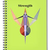 Strength Text Spiral Notebook for Sale by Michael Bellon