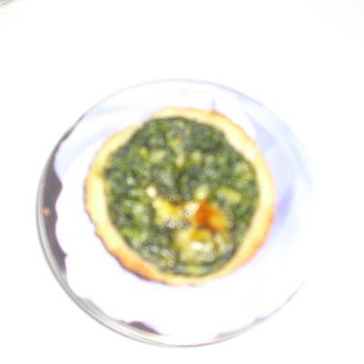 Mini tarte épinards/ricotta