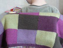 Le plaid tricot/madras