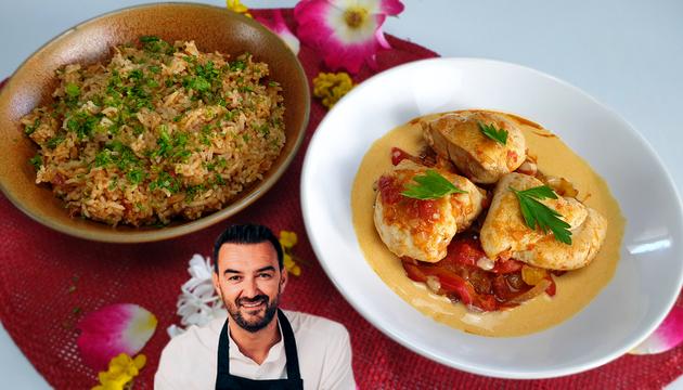 Tous en Cuisine - Le Poulet Basquaise, Riz Cuisiné et Crème de Chorizo de Cyril Lignac !