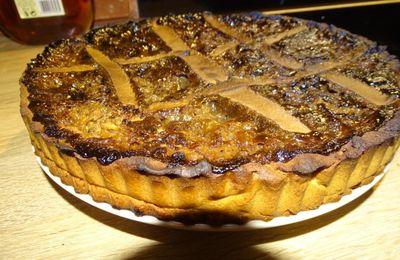 Tarte Isolienne aux noix, miel corsé et farine de châtaigne