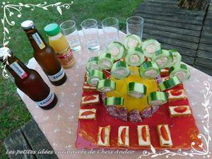 Sucettes de concombre au saumon