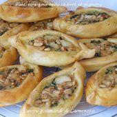 Pide aux épinards chèvre et pignons - Cuisine gourmande de Carmencita