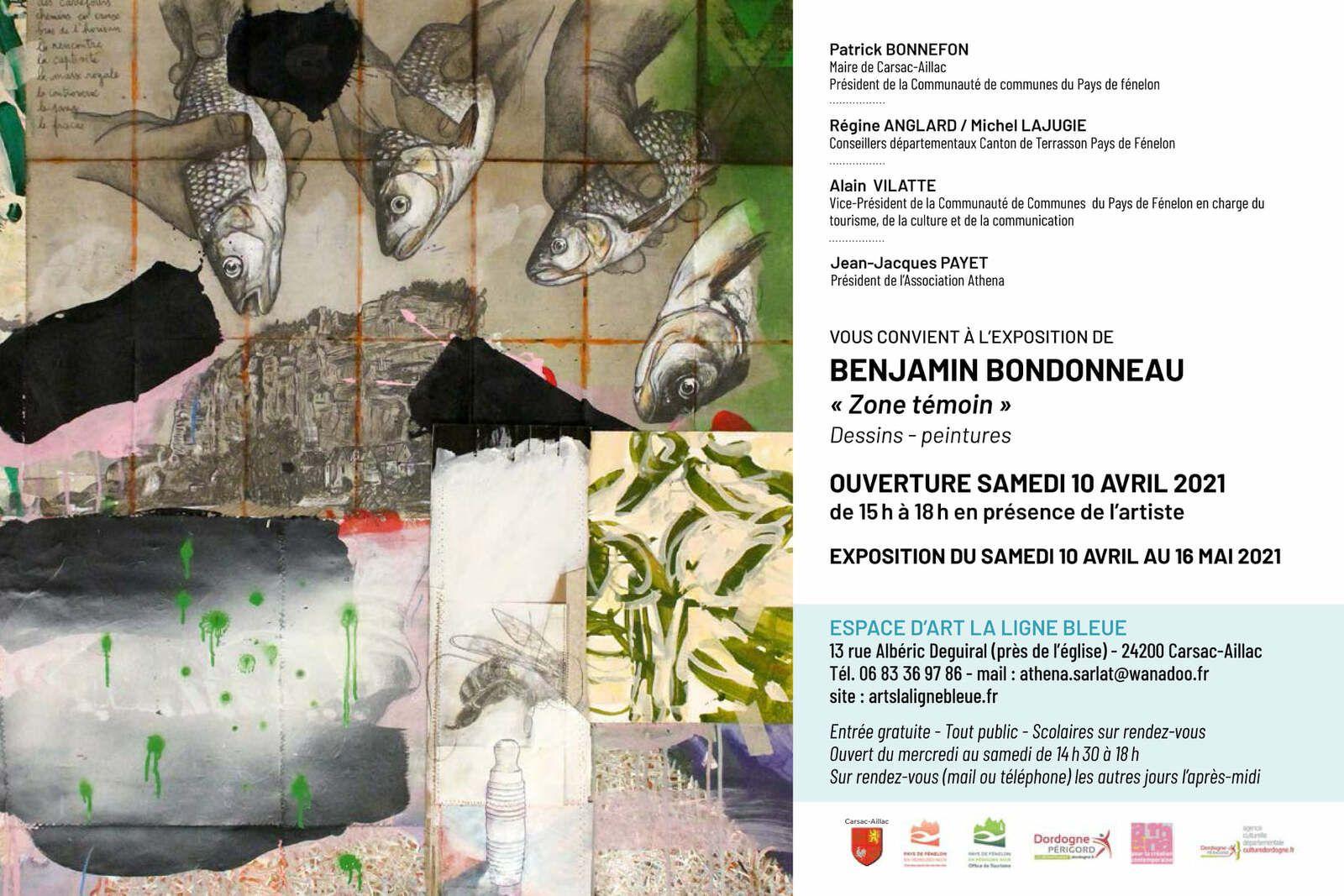 BENJAMIN BONDONNEAU EXPOSE à LA LIGNE BLEUE à CARSAC-AILLAC