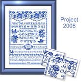 Free Cross Stitch Patterns by EMS Design. Free Project 2008 - The Rose Sampler.