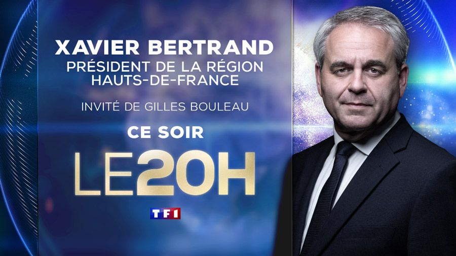 Xavier Bertrand invité ce soir du JT de 20H de TF1