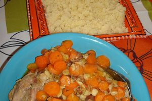 Tajine poulet / carottes de ma maman !