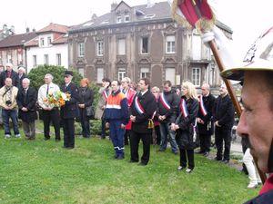 Journée nationale du Souvenir et de la Déportation à Algrange en 2012