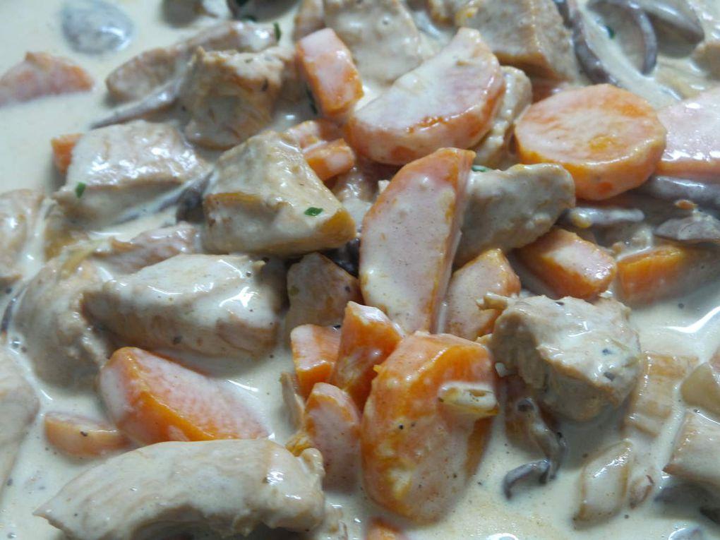 Cassolettes de volaille aux champignons bruns