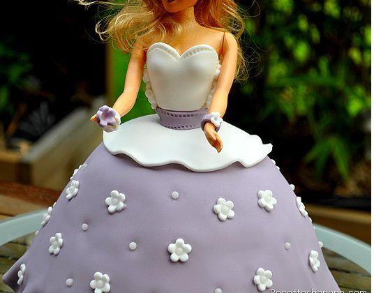 Gâteau princesse 3D (gâteau Barbie)