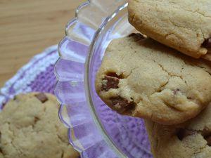 Cookies au beurre de cacahouète et chocolat