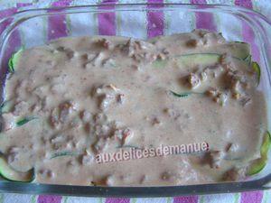 lasagnes courgette et tomate au boeuf -LIGHT-