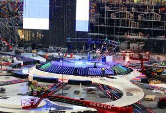 La scène de l'Eurovision prend forme !