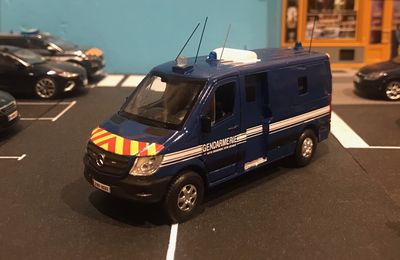 ​ Renault Master, Ford Focus break et Mercedes Sprinter Gendarmerie  (1/43 - par Rénald H.) ​