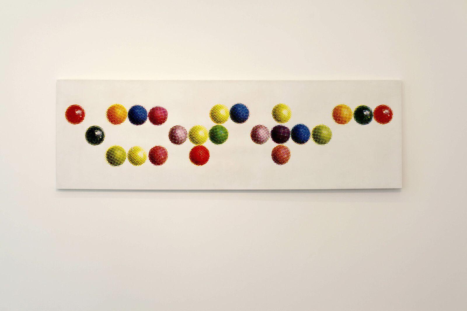 """""""Exoteric (Billes Colorées"""", 1970 de Alain JACQUET - Courtesy de l'artiste et de la galerie Perrotin © Photo Éric Simon"""
