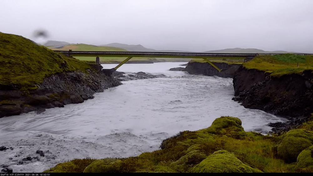 Skafta river near the RN1 - screenshot 06.09.2021 / 10:45 am