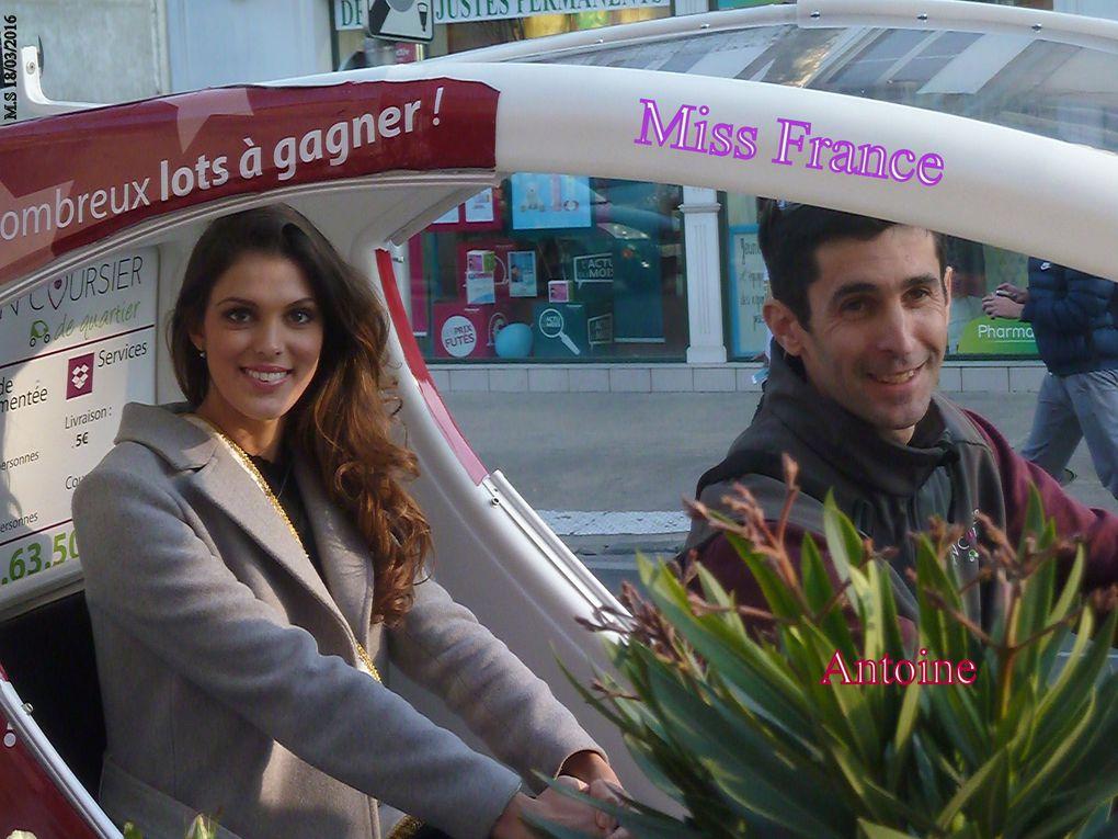 """Bien sûr notre Miss Saintes avait aussi honoré de sa présence le magasin de fleurs de Florence """" Rapid' Flore """"."""
