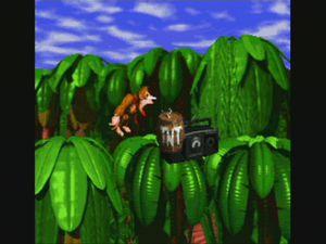 Cranky Kong pas content, et donc le choix de mode de jeu.