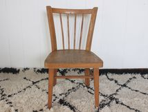 Chaise enfant Baumann en bois clair Années 60 - Vintage
