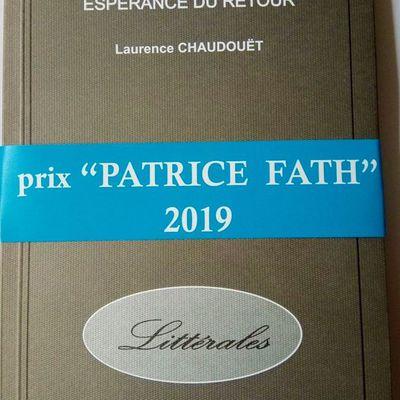 """Recueil poétique """"Espérance du retour"""", prix Patrice Fath 2019"""