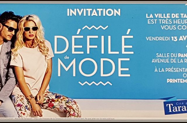Invitation au Grand Défilé de Mode de Tarascon