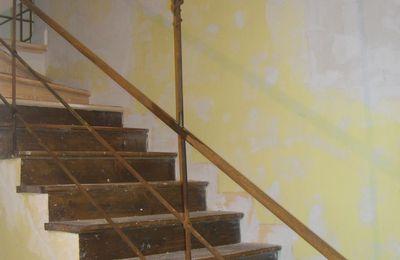 Rampe d'escalier - soutènement
