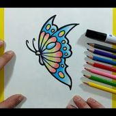 Como dibujar una mariposa paso a paso 17   How to draw a butterfly 17