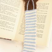 "Crochet DROPS book mark with teddy in ""Alpaca"". ~ DROPS Design"