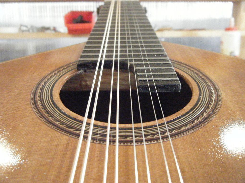 Restauration effectuée sur une mandoline Manuel Lopez Bellido
