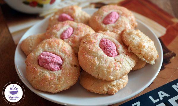 Macarons à l'ancienne aux pralines roses