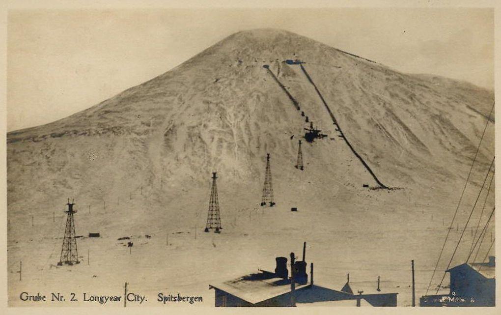 Les mines de charbon à Advent Bay  au début du 20ème siècle