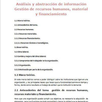Análisis y abstracción de información