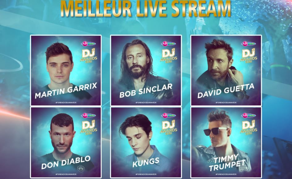 fun radio dj awards 2020, best livestream