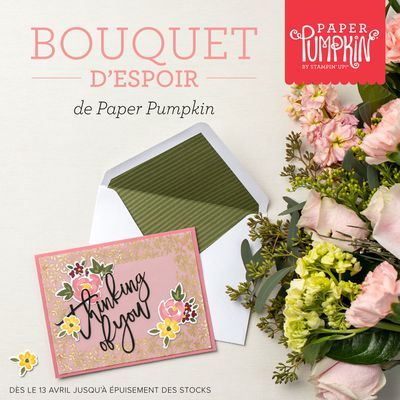 Box créative Stampin'up! Bouquet d'espoir