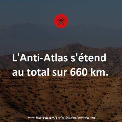 L'Anti Atlas s'étend sur 660 km