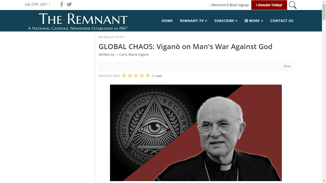 Source : https://remnantnewspaper.com/web/index.php/articles/item/5499-global-chaos-vigano-on-man-s-war-against-god
