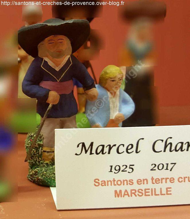 Marie Bosco, Jules Blanc, Douzon Truffier, Marcel Chanet ( Conservatoire du santon)
