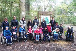 Promenade en forêt pour les deux classe de C.E.1, le 13 Octobre  2015