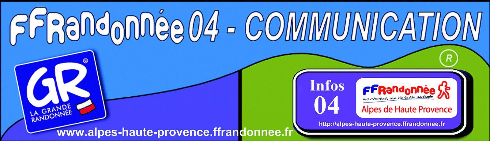 FEDERATION FRANCAISE de la RANDONNEE PEDESTRE 04 - Alpes de Haute Provence